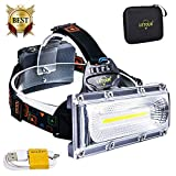 Headlamp, LETOUR 8000 Lumen Rechargeable Headlamp, COB High Bright LED Headlights Waterproof Work Light Headlight for Hard Hat Camping Cycling Hunting Fishing Climbing Running Outdoor, Super Long Time Work Head Lamp