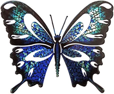 Wall Art Large Butterfly Blue/Black