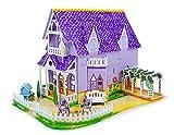 Melissa & Doug Pretty Purple Dollhouse 3-D Puzzle (16 x 10.75 x 10.75 inches, 100+ pcs)