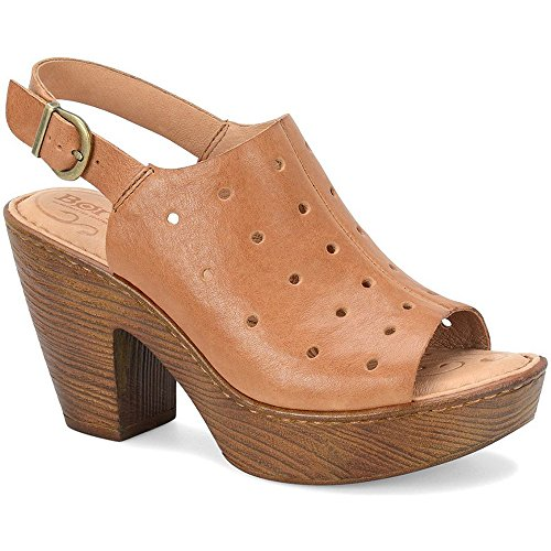 Born Galoa Brown Full Grain Women's Wedge Shoes (8 B(M) US, Brown) ()