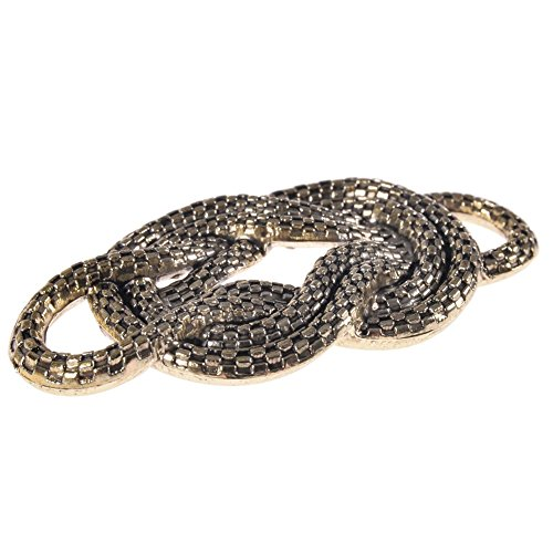 Mibo ABS Metal Plated Decorative Ornament Interlock Rope Design Non Functional Antique Gold 2 Pack