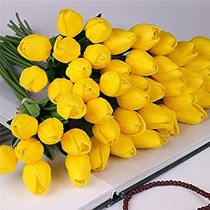Rvbyjfg Tulip Flower Artificial Bouquet Fake Flower Bride Wedding Bouquet Decoration 83
