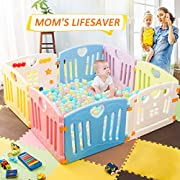 Harper&Bright Designs DreamHouse Kiddie Playpen Home Baby Safety Playards (Butterfly Style)
