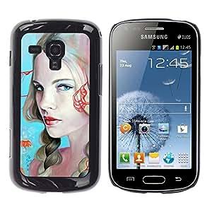 TopCaseStore / la caja del caucho duro de la cubierta de protección de la piel - Sexy Girls Painting - Samsung Galaxy S Duos S7562