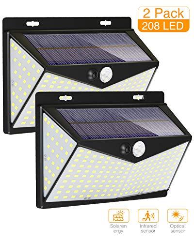 2Pack Solar Motion Light Outdoor, Kolpop Solar Motion Sensor Light 208 LED 3 Mode Sunblast Solar Security Light with 270…