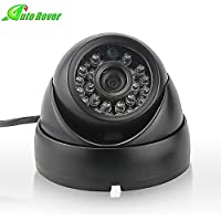 Auto Rover CCTV Camera Outdoor CCD Dome Security Camera With 24 IR LEDs Night Vision f2.8mm Lens Day Night Vision Security Surveillance Camera(Black)