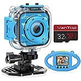 VanTop Junior K3 Kids Camera, 1080P Supported Waterproof Video Camera w/ 32Gb Memory