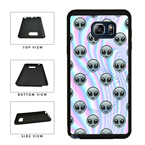 BleuReign(TM) Funny Smiley Face Alien Emoji On Trippy Background TPU RUBBER SILICONE Phone Case Back Cover For Samsung Galaxy S8 Plus