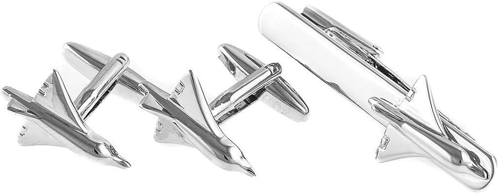 Airplane Tie Clip Pilot Jet Army Tie Clip Silver Black Wedding Bar Clasp