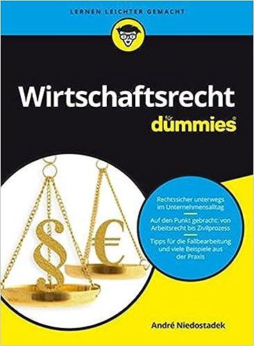 Wirtschaftsrecht Für Dummies André Niedostadek Amazonde Bücher