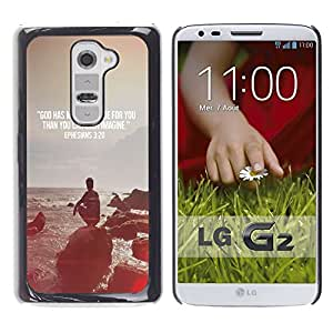 Impact Case Cover with Art Pattern Designs FOR LG G2 Quote Religion Epiphany Christian Betty shop