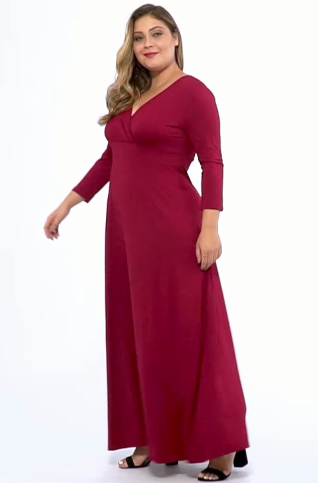 Plus Size Evening Long Party Gown