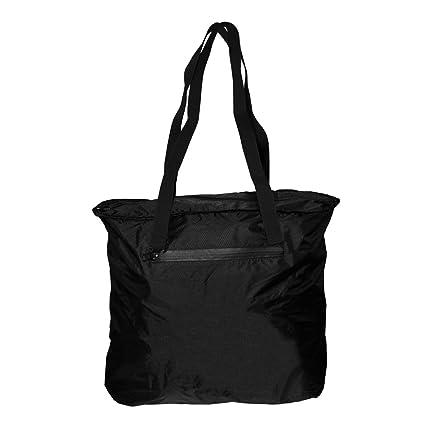cfdeb507666b Otaria Lightweight Packable Tote Bag – Water Resistant Folding Travel Bag,  Black