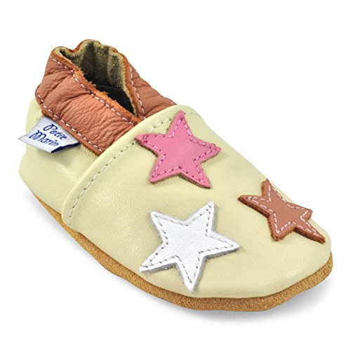ce78b559d8ec Petit Marin Beautiful Soft Leather Baby Shoes with Suede Soles – Toddler   Infant  Shoes - Crib Shoes – Baby First Walking Shoes - Pre-walker Shoes - 40 ...