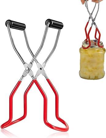 DUOCACL Pince de levage pour bocaux en acier inoxydable avec poign/ée de pr/éhension soulevez en toute s/écurit/é toutes les tailles de bocaux de leau bouillante pour cuisine restaurant