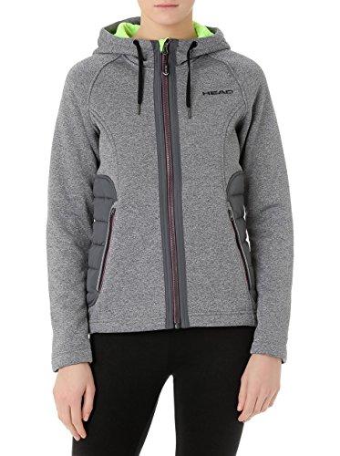 HEAD Novelty Full Zip Women de las mujeres de múltiples funciones de la chaqueta gris 824515-GM