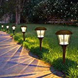 SmartyardTM Solar LED Large Pathway Lights - 8 pack