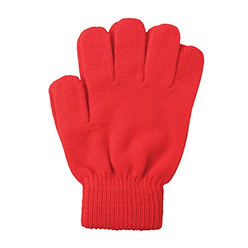 A&R Sports Knit Gloves, Red, One Size