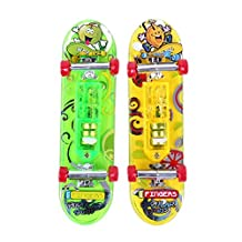 Mini Skateboard Toys - SODIAL(R) 2 x Mini Skateboard Toys Finger Board Tech Deck Boy Kids Children Gifts