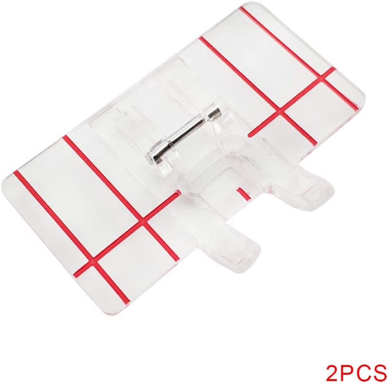 heacker 2pcs Paralelo Transparente Coser prensatelas hogar ...