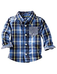 OshKosh B'gosh Baby Boys' Plaid Button-Front Shirt, 6 Months