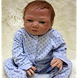 """NPK Handmade Reborn Baby Dolls boy 20"""" Lifelike Soft Vinyl Silicone Weighted Baby Toddlers Blue Outfit Gifts Set Ages 3+"""
