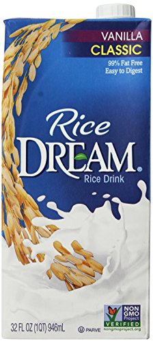 RICE DREAM Classic Vanilla Rice Drink, 32 fl. oz. (Pack of 12)
