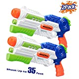 HITOP Super Soaker Water Gun, 2 Pack Squirt Guns Water Guns for Kids Adults, 36oz High Capacity Fast Soaking Trigger...