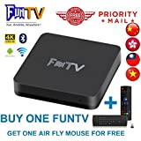 GD 2018 Newest FUNTV Box Chinese HK Taiwan live tv+Free Small 2.4G Wireless Keyboard Air Mouse!!!