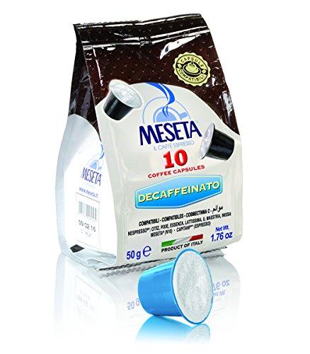 Meseta Cápsulas de Café Descafeinado Italiano, Compatible con el Sistema Nespresso, 50 g