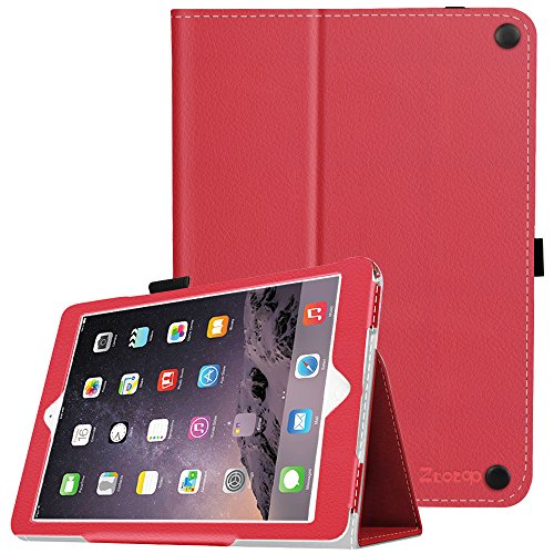 New iPad 9.7 Inch 2017 /iPad Air 2 /iPad Air Case, Ztotop Premium PU Leather Smart Cover with Wallet & Credit Card Slot Stand Cover for Apple iPad 2017, iPad Air 1 2, Red (Auto Wake / Sleep)