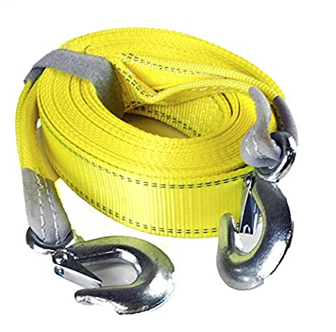 CESS Professional Towing Strap / Sling Strap / Tow Rope - Made of Polyester (30 ft / 11000 lb with - Tow Rope Hook