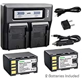 Kastar Fast Dual LCD Charger + 2X Battery for BN-VF823