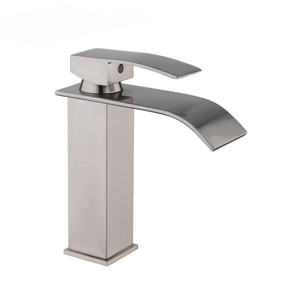 JONTON Wasserhahn Bad Wasserhahn Tippen Sie auf Badezimmer Wasserhahn   Messing Wasserfall Bad Wasserhahn Becken Wasserhahn Einzigen Handgriff Waschtischarmatur