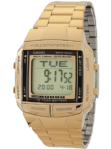 DB360G-1D Casio Gold & Black Digital Watch - Gold / One Size