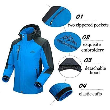 YSENTO Mens Lightweight Waterproof Jacket Windproof Outdoor Camping Hiking Mountain Jacket Coat with Hood 3
