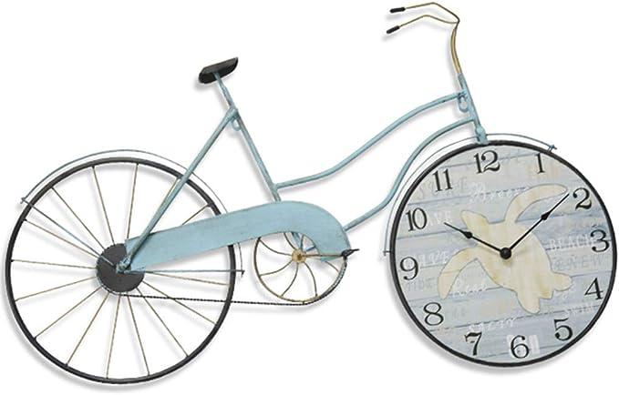 WYJW Reloj de Pared de Bicicleta de Hierro Forjado para Colgar en ...