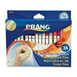 Prang Fine Line Washable Art Markers, 36-Color Set (80712)
