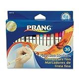 Prang Fine Line Washable Art Markers, 36-Color Set (80712)