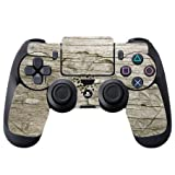 Flower Carved out of Wooden Background PS4 DualShock4 Controller Vinyl Decal Sticker Skin by Moonlight Printing