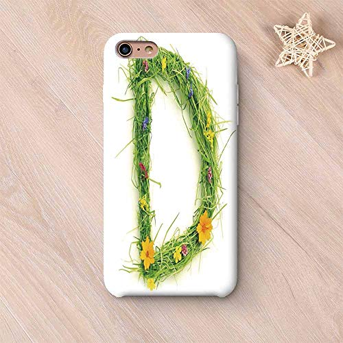 - Letter D Elegant Compatible with iPhone Case,Alphabet Typography with Little Wildflowers and Grass Freshness Garden Growth Eco Compatible with iPhone 6/6s,iPhone 6 Plus / 6s Plus
