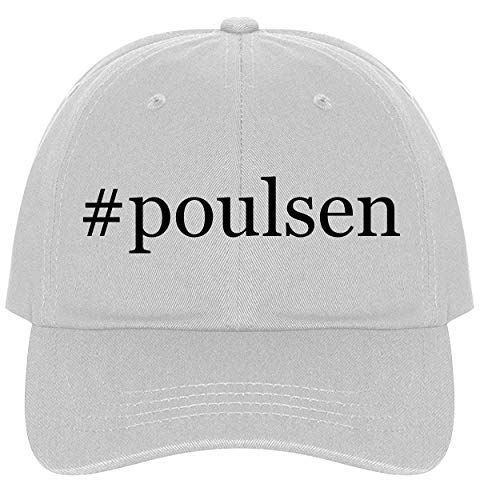 The Town Butler #Poulsen - A Nice Comfortable Adjustable Hashtag Dad Hat Cap, White ()
