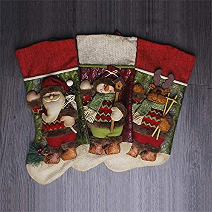 christmas stockings girls christmas stockings children christmas stocking gift holders navidad kids gift candy bags christmas - Girls Christmas Stocking