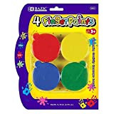 BAZIC Assorted Color 40ml Finger Paint (4/Pack)