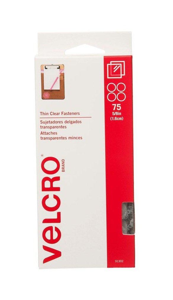 Velcro(R) Brand Thin Fasteners Coins 5/8'' 75/Pkg-Clear