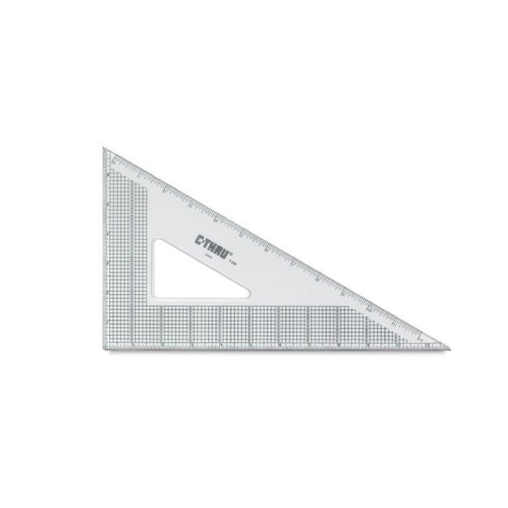 Westcott Grid Triangle, 10'', 30/60 Degree, Transparent (T-4M) by Westcott