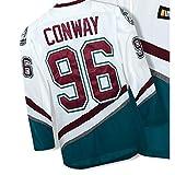 SKIKOAALG Charlie Conway 96 'Mighty Ducks Movie' JerseyXX-Large^^^XX-Large^^^White^^^white