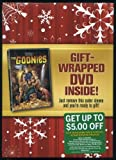Goonies Special Holiday Gift Wrapped Edition Goonies DVD Red Packaging with Red Snowflake Giftwrapping Under Factory Seal