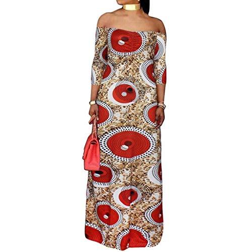 Plus Size Dresses for Women Casual Half Sleeve Off Shoulder Print Slim Fit Long Dress (XXXL, Yellow)