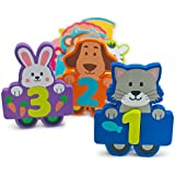 Foam Numbers - Bath Toys Set of 27 Fun Educational Floating Toys - Bath Organizer- Storage Bag-Puzzle Number Animals - Early Preschool Learning Toys